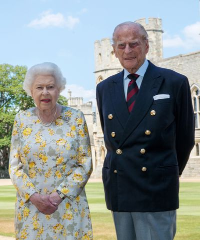 Prince Philip and Queen Elizabeth during lockdown