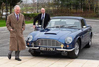 Prince Charles shows off his vintage 'James Bond' car
