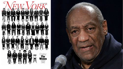 The cover of New York magazine (left) and Bill Cosby.