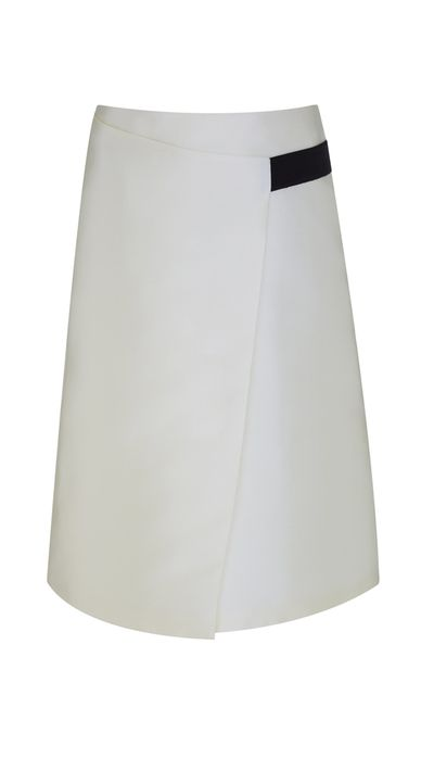 "<a href=""https://www.finerylondon.com/"" target=""_blank"">Rosslyn Wrap Midi Skirt, $64.95, Finery London</a>"