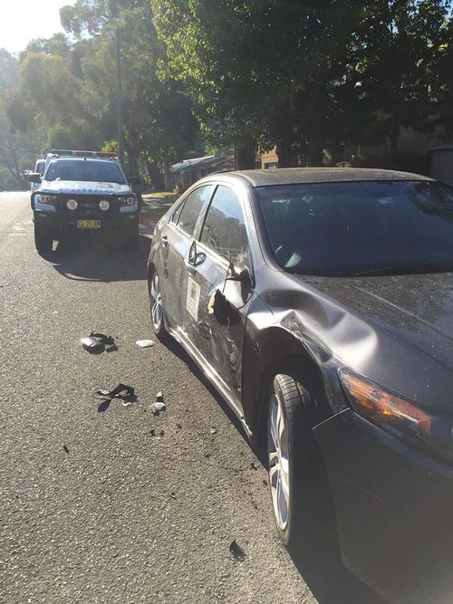 """Resident Tracey Bonfante, whose car was smashed into, says she heard """"an almighty crash"""". (9NEWS)"""