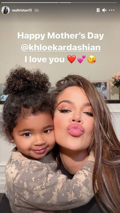 Tristan Thompson, Khloé Kardashian, Mother's Day message, 2021, cheating allegations
