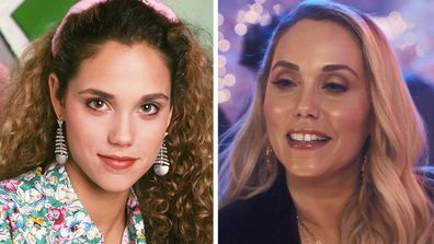 Saved By The Bell Elizabeth Berkley  Lauren then and now