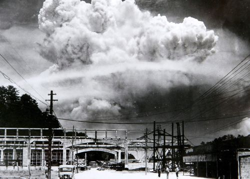 After Hiroshima, a second atomic bomb was exploded over Nagasaki, killing more than 73,000 people.