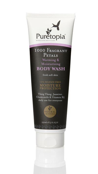 "<p><em><a href=""http://www.mypuretopia.com/1000-fragrant-petals-warming-moisturising-body-wash-250ml"" target=""_blank"">Puretopia 1000 Fragrant Petals Warming &amp; Moisturising Body Wash</a></em>- The fragrance will wake you up, while the aloe vera keeps skin smooth.&nbsp;</p>"