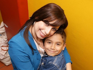Jo Abi with her son Philip