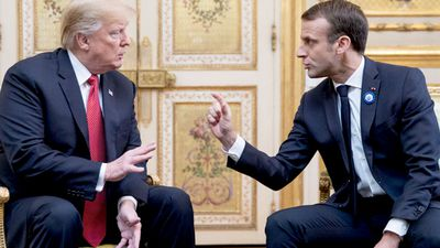 'Try making France great again, Macron', furious Trump tweets