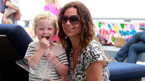 Minnie Driver's son finally has a baby daddy