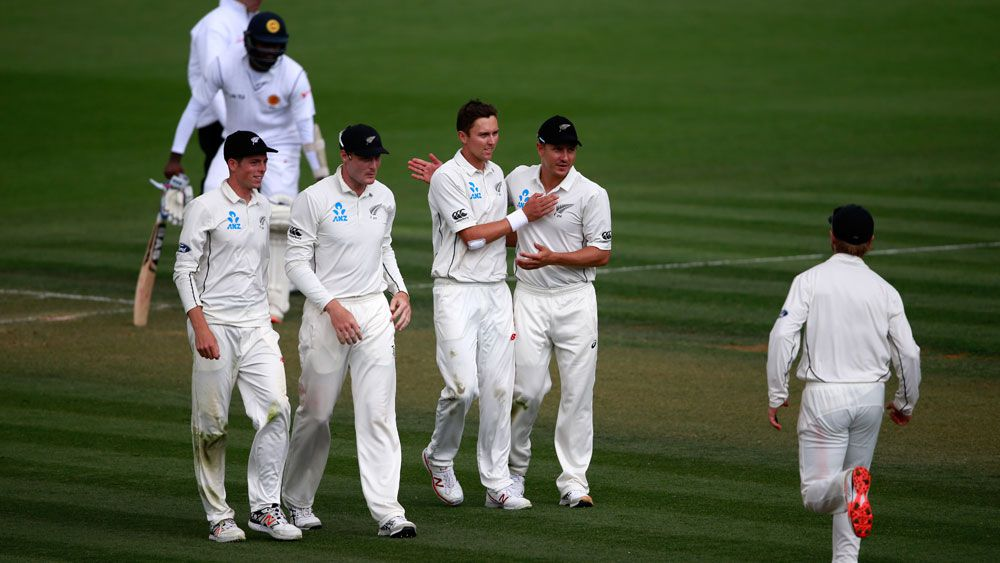 Trent Boult celebrates a wicket against Sri Lanka. (Getty)