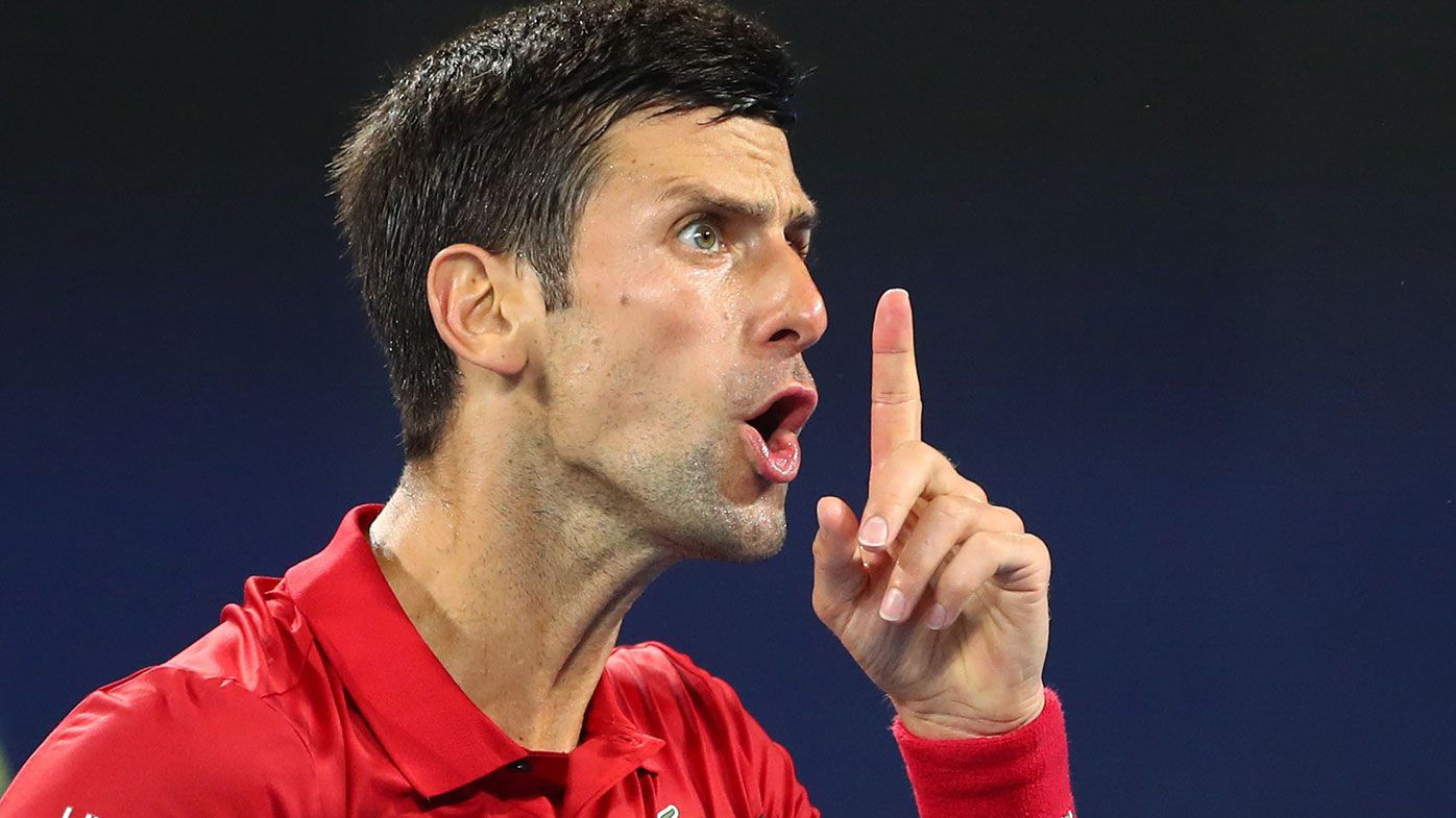 Novak Djokovic lashes out at fans at the ATP Cup