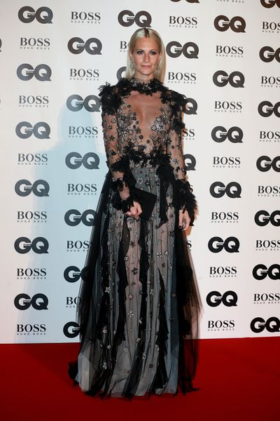 Poppy Delevingne in Reem Acra at the British <em>GQ</em> Men of the Year Awards