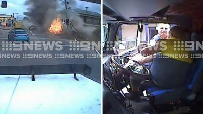 Incredible new look at 'chaotic' truck crash