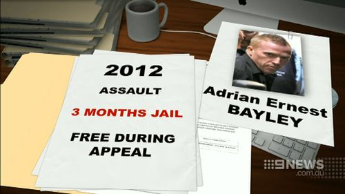 Bayley attacked again while on parole in 2012. (9NEWS)