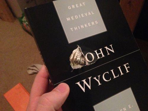 Bag full of books stops random bullet fired at university student
