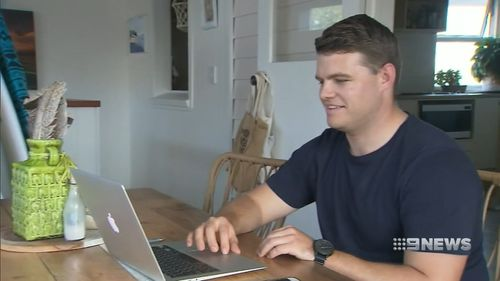 Ross Marais sold his unwanted items online, earning back $1,500. Picture: 9NEWS