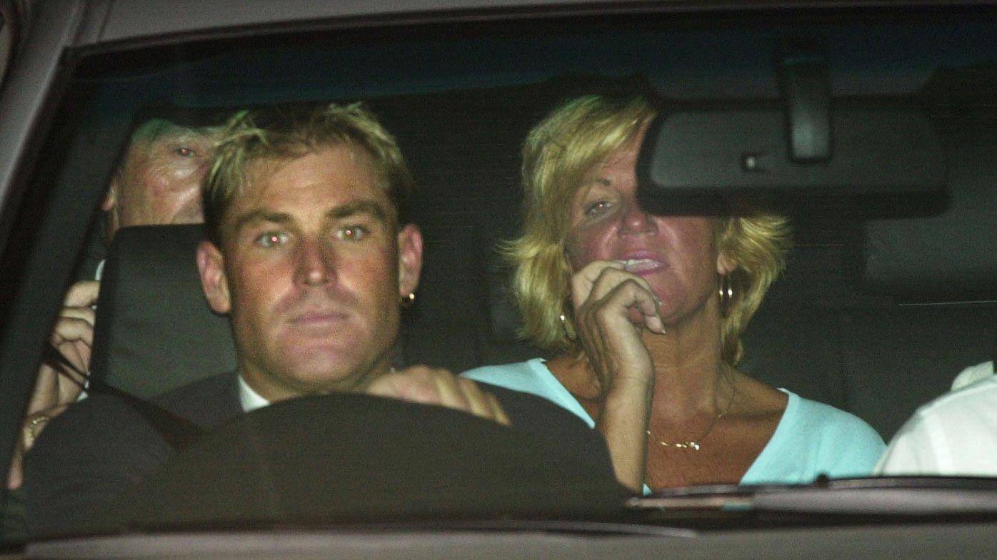 Shane Warne and his mum