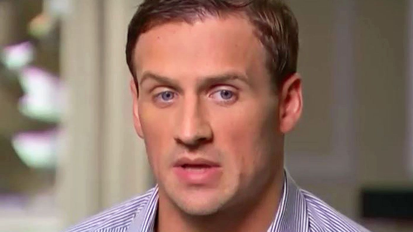 Ryan Lochte appears on American television to apologise for Rio drama. (Supplied)
