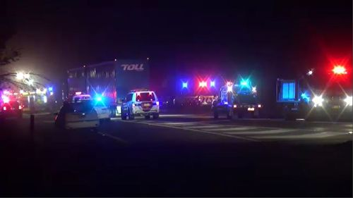 Emergency services rushed to the road, which remains closed in both directions.