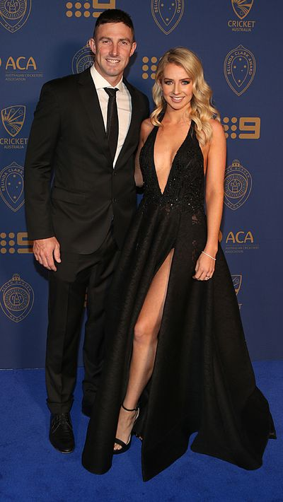 Shaun Marsh and his wife Rebecca Marsh.