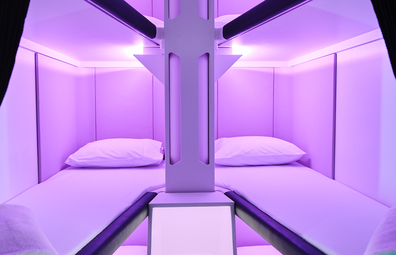 Air New Zealand Economy Skynest sleeping pods