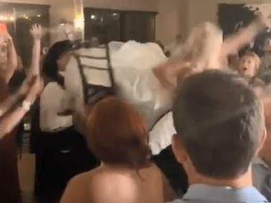 Bride breaks foot during wedding dance