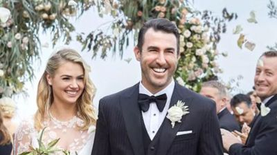 Kate Upton channels Grace Kelly down the aisle