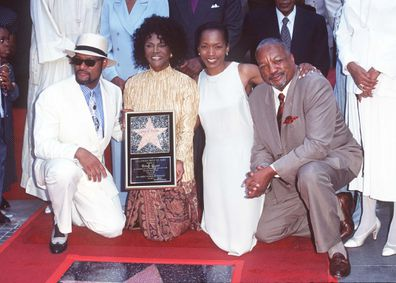 Cicely Tyson Honored with a Star on the Hollywood Walk of Fame in 10097 with Laurence Fishburne, Angela Bassett and Paul Winfield.