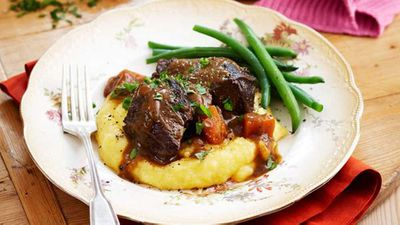 "Recipe: <a href=""http://kitchen.nine.com.au/2016/05/13/13/09/braised-beef-cheeks-in-red-wine"" target=""_top"" draggable=""false"">Braised beef cheeks in red wine</a>"