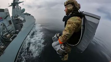 Gravity Industries's jetpack is trialled by the UK Royal Marines.
