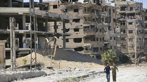 Inspectors have entered the Syrian town of Douma  after an alleged gas attack, which Syrian activists say killed more than 40 people, prompted punitive US, British and French airstrikes. (AAP)
