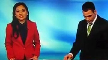 Van Tieu and AJ Clemente in a screen shot from the disastrous broadcast.