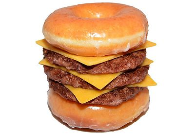 Krispy Kreme Triple Cheeseburger