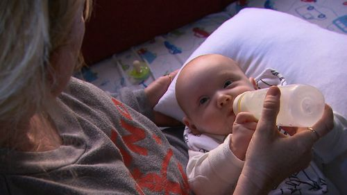Michelle said her three-month-old baby had been suffering from croup.