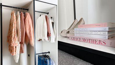El'ise and Matt's renovation: A look inside their walk-in wardrobe