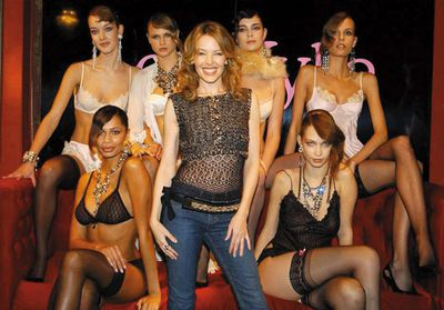 At the launch of the Spring/Summer 2005 'Love Kylie' lingerie collection in London.