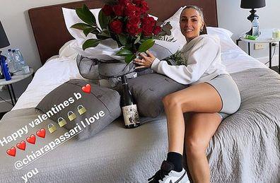 Nick Kyrgios Valentine's Day post Chiara Passari