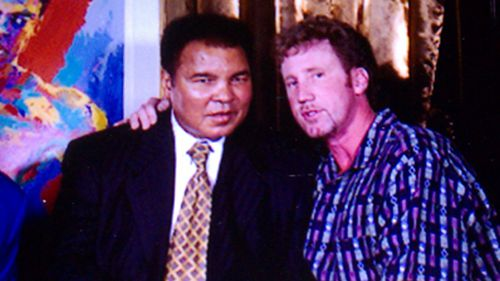 RJ Cipriani with former heavyweight champion Muhammad Ali, one of the most significant and celebrated sports figures of the 20th century. (Supplied)