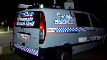 A pedestrian has died after he was hit by a car while crossing the Cunningham Highway in Purga last night.