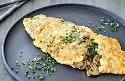 "Recipe:&nbsp;<a href=""http://kitchen.nine.com.au/2017/06/13/14/13/pan-fried-mushroom-omelette-with-spinach-and-thyme"" target=""_top"" draggable=""false"">Pan fried mushroom omelette with spinach and thyme</a><br /> <br /> More:&nbsp;<a href=""http://kitchen.nine.com.au/2017/06/13/17/08/recipes-you-can-cook-for-your-pregnant-partner-that-shell-actually-love"" target=""_top"" draggable=""false"">recipes from <em>A House Husbands' Guide: Cooking for your Pregnant Partner</em> cookbook by Aaron Harvie (New Holland Publishers)</a><br />"