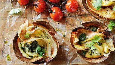 "<strong>Recipe: <a href=""http://kitchen.nine.com.au/2016/05/05/12/49/donna-hays-pancetta-ricotta-and-kale-frittata-cups"" target=""_top"">Donna Hay's pancetta, ricotta and kale frittata cups</a></strong>"
