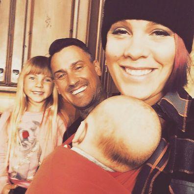 Pink, Carey Hart, Willow Hart and Jameson Hart