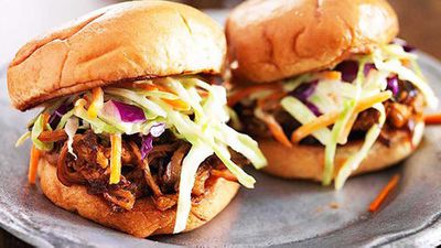<strong>Ben Farley's tomato and chipotle pulled pork sliders</strong>