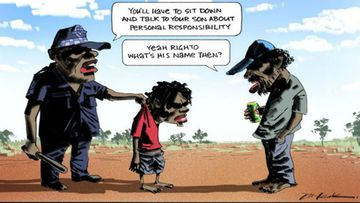 Cartoonist defends 'racist' depiction of Indigenous parenting