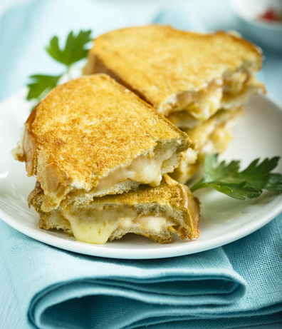 Cheese toastie, available via Deliveroo