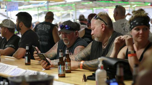 There were no mask or social distancing requirements at the Sturgis Motorcycle Rally.