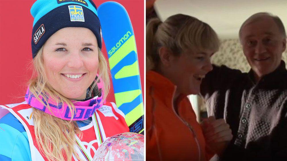 Swedish skier Anna Holmlund walks again a year after horrific training fall in Italy