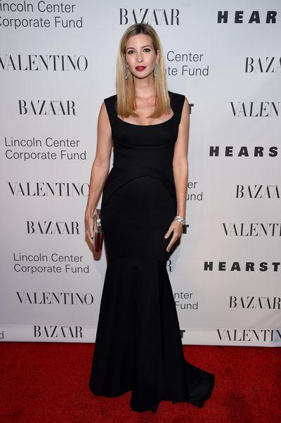 Ivanka Trump wearing Valentino at an evening honoring the designer in New York, December, 2015