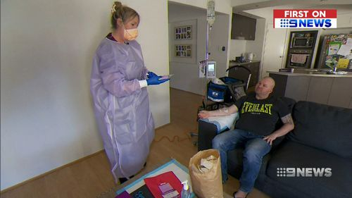 Four years ago Victorian Mr Henderson suffered a seizure without warning while celebrating his son's birthday. Picture: 9NEWS