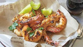 Thai pepper garlic prawns