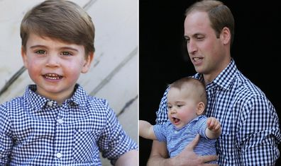 Although Prince Louis and his dad certainly share the same fashion sense.